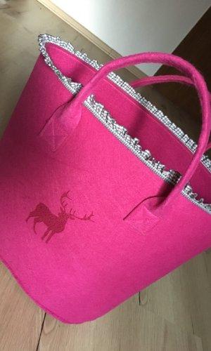 Traditional Bag pink-grey
