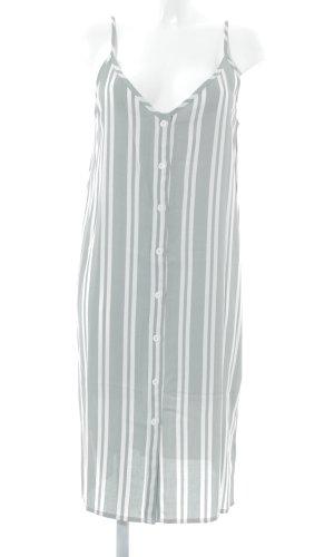 Native Youth Trägerkleid graugrün-creme Streifenmuster Casual-Look