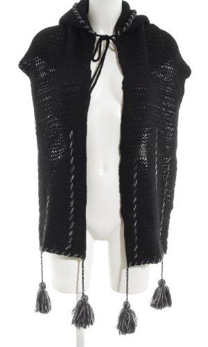 TRANSIT PAR-SUCH Écharpe à capuche noir style décontracté