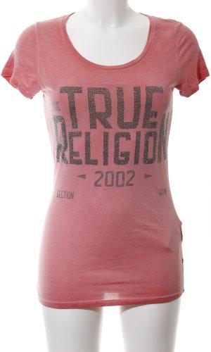 True Religion T-Shirt pink Motivdruck Casual-Look