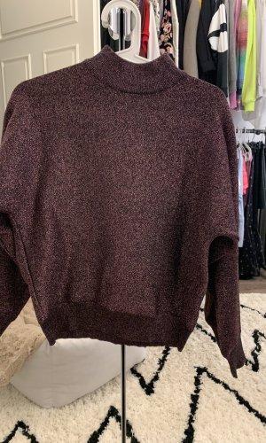 Topshop Turtleneck Sweater grey lilac-brown violet