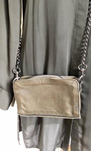 Liebeskind Crossbody bag green grey-grey brown leather