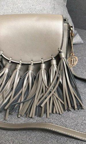 Manoukian Fringed Bag grey imitation leather