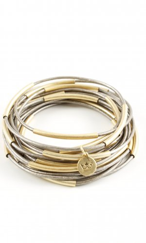 Bangle gold-colored wet-look