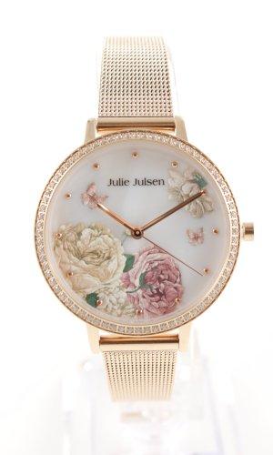 Reloj con pulsera metálica estampado floral estilo «business»