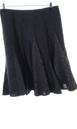 Vera Mont Volanten rok zwart casual uitstraling