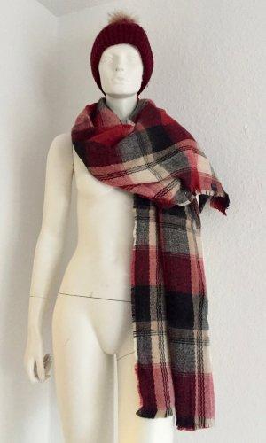 Chapeau en fourrure multicolore laine