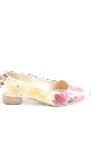 Vero Cuoio Zapatos estilo Richelieu amarillo pálido-rojo estampado floral