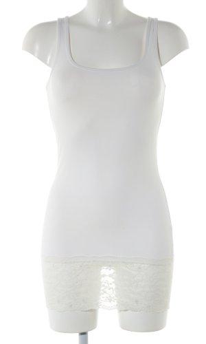 Vero Moda Kanten topje wit bloemenprint casual uitstraling