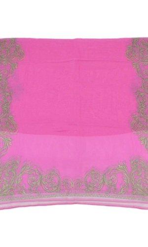 Versace Bufanda de punto rosa Seda