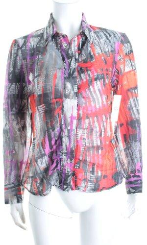 Verse Langarm-Bluse abstraktes Muster Casual-Look
