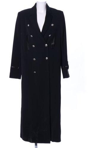 VERSUS Versace Floor-Lenght Coat black business style