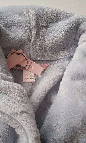 Victoria's Secret Bata para baño gris claro-azul pálido