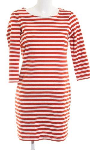 Vila Sweaterjurk rood-wit gestreept patroon casual uitstraling
