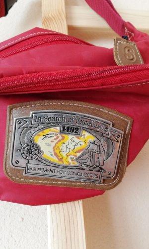 Vintage Riñonera rojo ladrillo