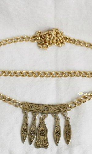 Vintage Cinturón de cadena color oro