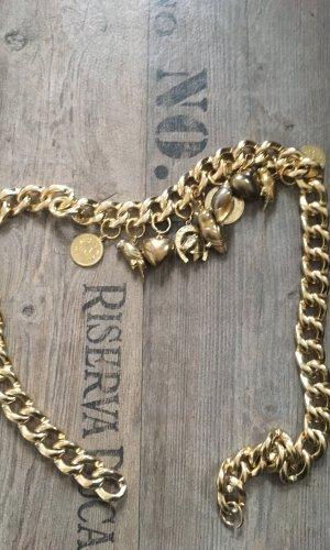 Cinturón de cadena naranja dorado