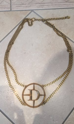 Dior Cinturón de cadena color oro otros