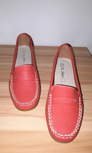 Moccasins bright red