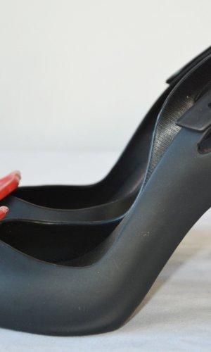 Vivienne Westwood Escarpin à bride arrière noir-rouge