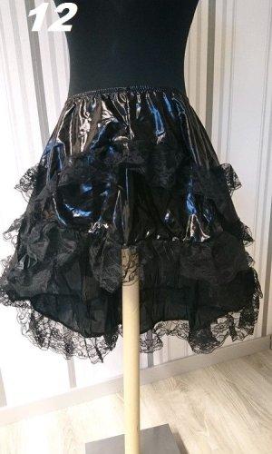 Volanten rok zwart Gemengd weefsel