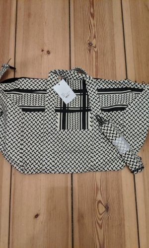 Lala Berlin Weekender Bag white-black cotton