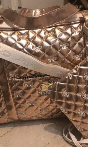 Betsey Johnson Weekender Bag gold-colored