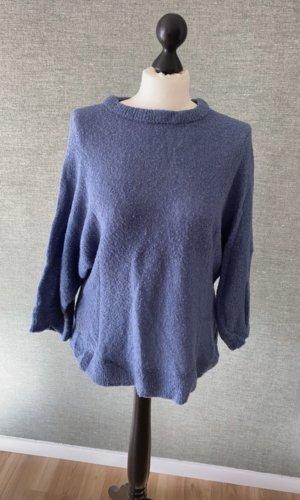 Mango Sweater met korte mouwen korenblauw