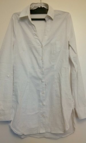 Weiße lange Vero Moda Bluse Größe S mit weißen Nadelstreifen