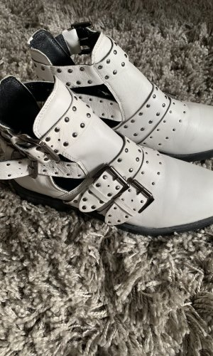 Topshop Ankle Boots white leather