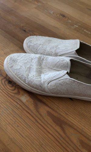 Zapatos sin cordones blanco