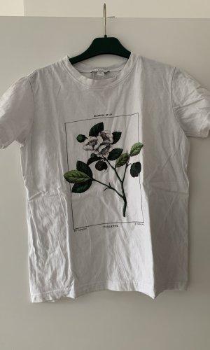 Topshop T-Shirt white-dark green
