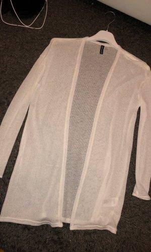 H&M Divided Chaleco de punto largo blanco