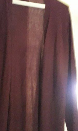 Gap Chaleco de punto largo violeta amarronado Nailon