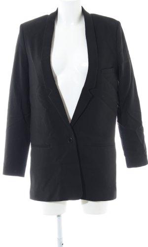 WHYRED Long-Blazer schwarz Business-Look