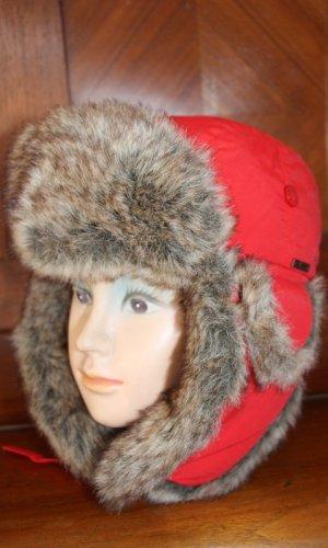 Wigens Chapeau en fourrure rouge tissu mixte