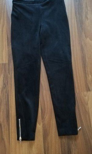 H&M Pantalón elástico negro-color oro