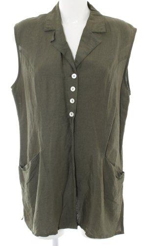 Wissmach Lange blouse khaki zakelijke stijl