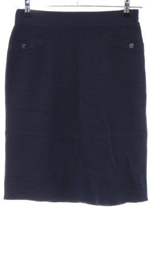 Wollen rok blauw zakelijke stijl
