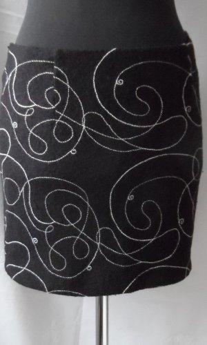 Nicowa Wollen rok zwart-wit Gemengd weefsel