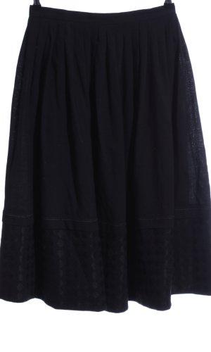 Wollen rok zwart grafisch patroon zakelijke stijl