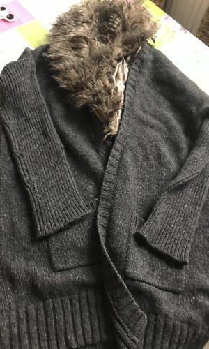 Flavio Castellani Cárdigan de estilo noruego taupe Lana