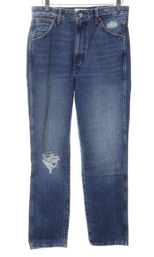 Wrangler High Waist Jeans blau Street-Fashion-Look