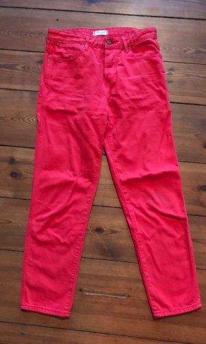 Wrangler Straight Jeans Cropped, W26/ xs/ 34, rot, High waist