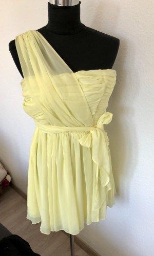 Topshop One Shoulder Dress primrose