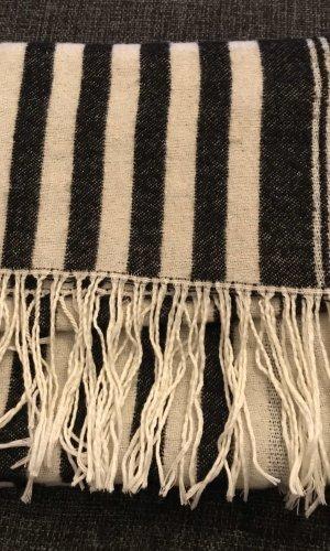 Barts Bufanda de punto gris-blanco puro