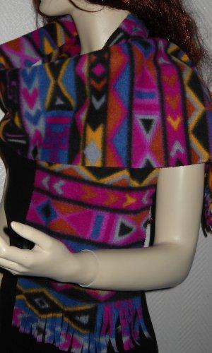 Écharpe à capuche violet-orange clair