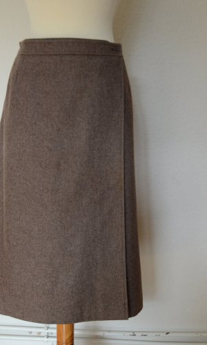 Yves Saint Laurent Wikkelrok grijs-bruin-lichtbruin Wol