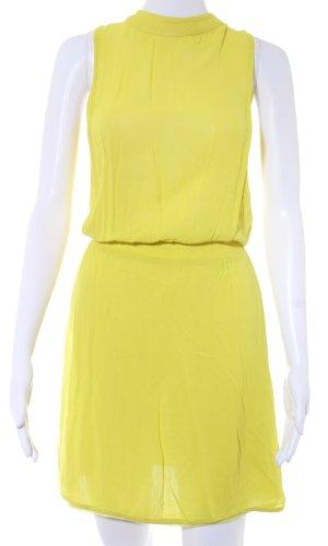 Zara A-Linien Kleid limettengelb Casual-Look