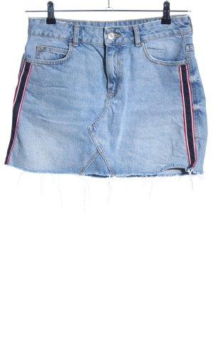 Zara Basic Spijkerrok gestreept patroon casual uitstraling